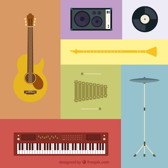 Variété des instruments de musique