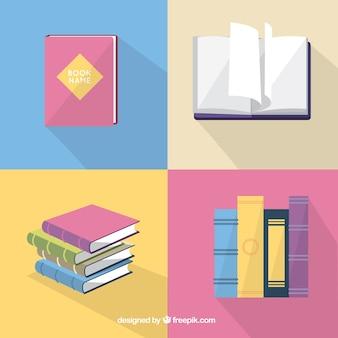Variété de livres mignon