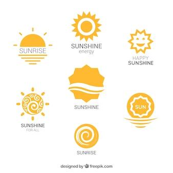 Variété de logos de soleil