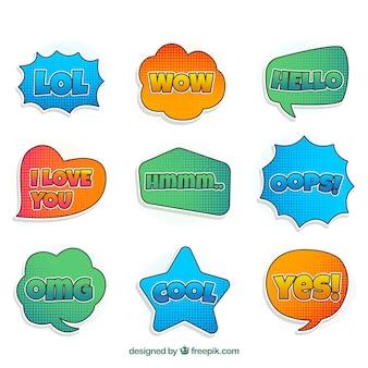 Variété moderne de bulles parlantes