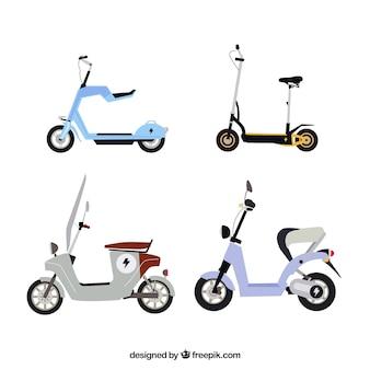 Variété moderne de scooters urbains