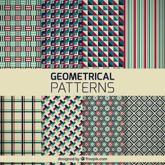 Variété de motifs géométriques