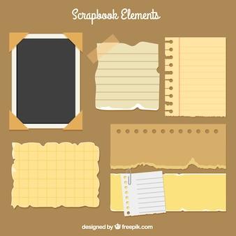 Variété de notes de papier