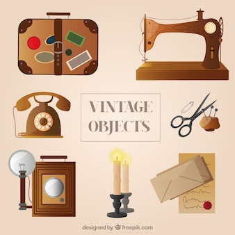 Variété des objets vintage