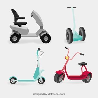 Variété originale de scooters modernes
