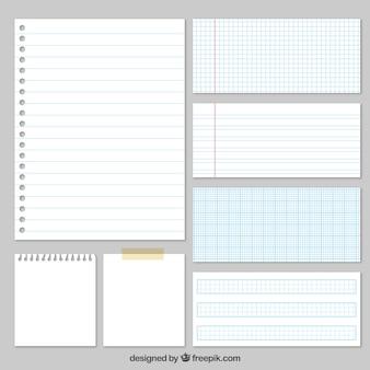 Variété de papiers