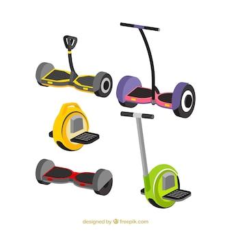 Variété plate de scooters électriques modernes