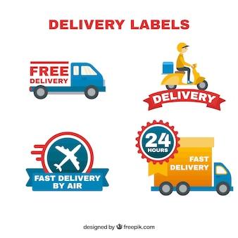 Variétés plates d'étiquettes de livraison