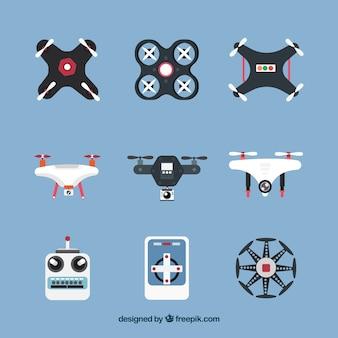 Variétés variées d'éléments drones