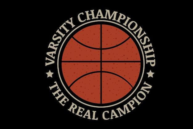 Varsity championship le vrai champion couleur orange et crème