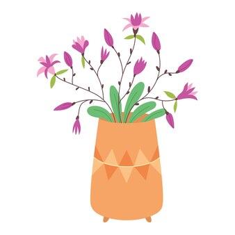 Vase fleurs de lys violet
