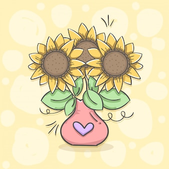 Vase de tournesol