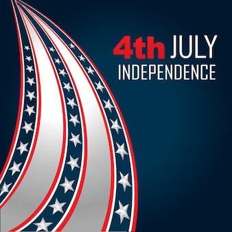 Vecteur 4ème jour de l'indépendance de juillet