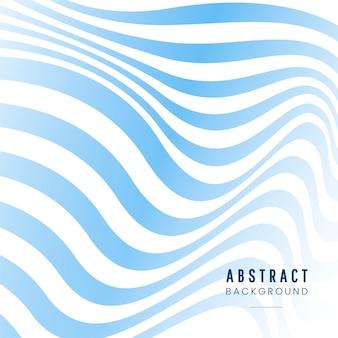 Vecteur abstrait bleu et blanc rayé