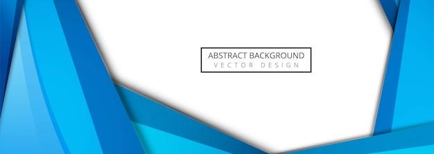 Vecteur abstrait bleu ondulé