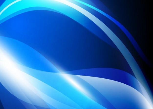 Vecteur abstrait bleu des vagues de fond graphique