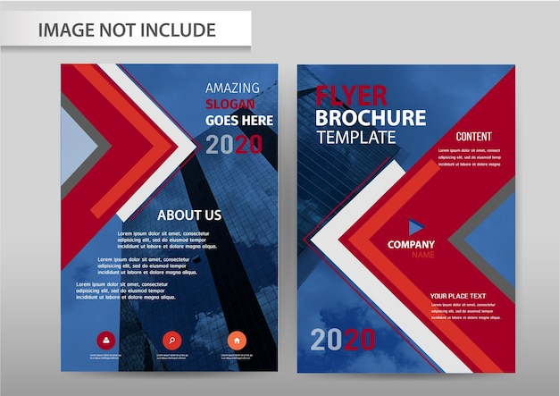 Vecteur abstrait conception de taille a4 modèle flyer brochure flyer.