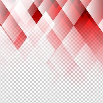 Vecteur abstrait couleur éléments géométriques rouge