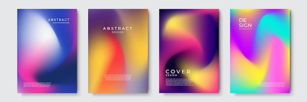 Le vecteur abstrait couvre le modèle de conception. fond dégradé géométrique. arrière-plan de présentation de décoration, brochure, catalogue, affiche, livre, magazine