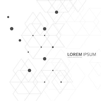 Vecteur abstrait géométrique. fantaisie d'hexagones