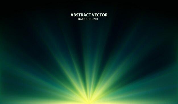 Vecteur abstrait vert avec des lumières