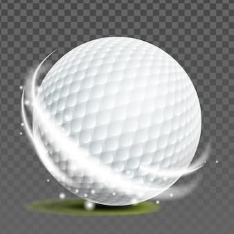 Vecteur d'accessoire de jeu sportif de golfeur de balle de golf
