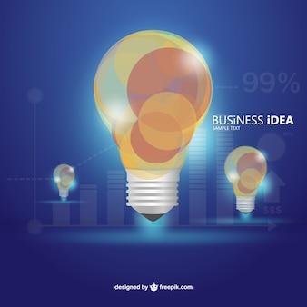 Vecteur d'affaires infographie régime lumineux