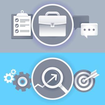 Vecteur des affaires et des signes de conception graphique et des symboles dans un style plat