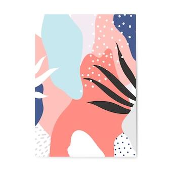 Vecteur d'affiche de style coloré memphis