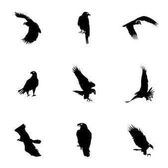 Vecteur d'aigle. une illustration simple d'aigle, des éléments modifiables, peut être utilisée dans la conception de logo