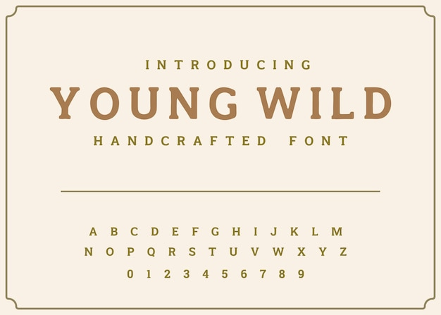 Vecteur de l'alphabet d'affichage des polices de caractères vintage