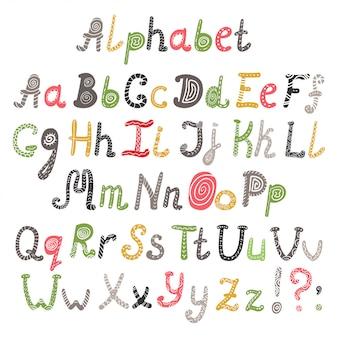 Vecteur de l'alphabet en style scandinave
