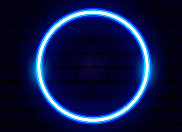 Vecteur anneau bleu néon