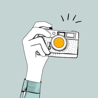 Vecteur d'appareil photo vintage