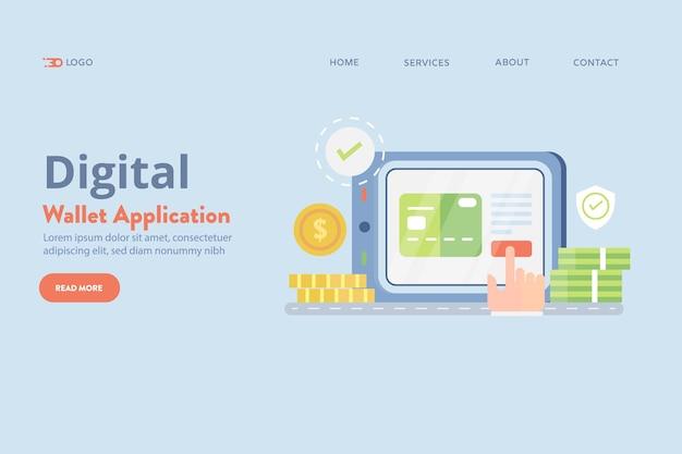 Vecteur d'application de portefeuille numérique