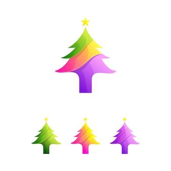 Vecteur d'arbre natal coloré