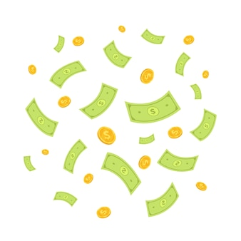 Vecteur de l'argent vol
