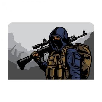 Vecteur armée civile