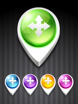 Vecteur arrow icône style 3d