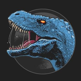Vecteur d'art de tête de dinosaur t-rex