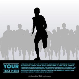Vecteur athlète leader silhouette