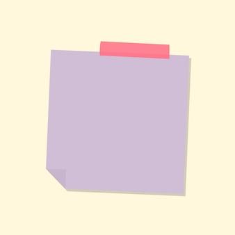 Vecteur d'autocollant de journal de papier à lettres violet pastel