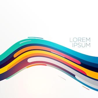 Vecteur de backgorund abstrait élégant coloré