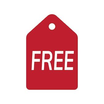 Vecteur de badge promotionnel gratuit rouge