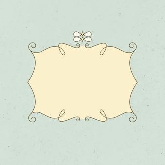 Vecteur de badge vintage, logo ornemental