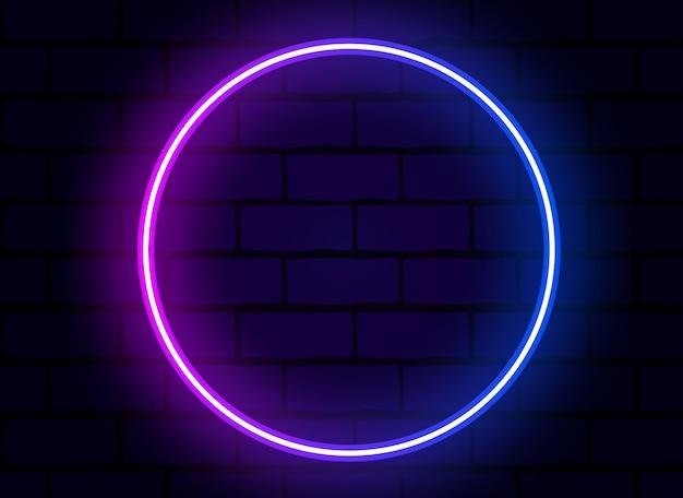 Vecteur de bague néon coloré