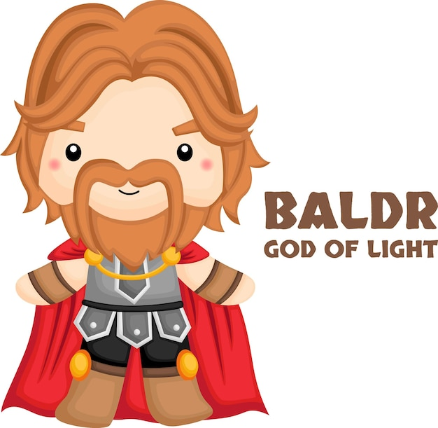 Un vecteur de baldr de la mythologie nordique