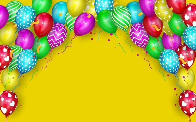 Vecteur De Ballons De Différentes Couleurs Vecteur Premium