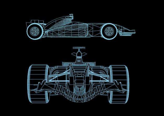 Vecteur de bandes 3d pour les voitures de course