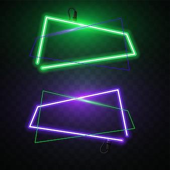 Vecteur de bannière abstraite au néon.